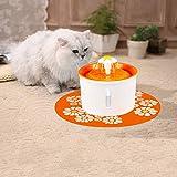 XBTECH Animali Domestici Che beve con Le fontane filtranti a Carbone Attivo Cat Fountain Filter Organico Silenzioso Antiscivolo Cani e Gattino Automatico Silenzioso sostituibile Filtro 1.6L