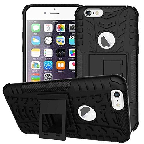 """iPhone 6S Coque AOFad Béquille Vidéo Protection des lourds noir Plastique TPU Hybride Antiskid 2 à 1 Série Pour Femme Homme Accessoires Case 4.7"""" Q008 AOFad Style 111"""