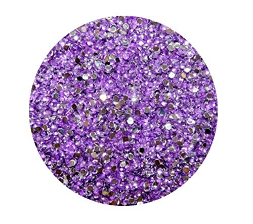 Strass Rond, lilas, 2 mm, env. 90 pièces