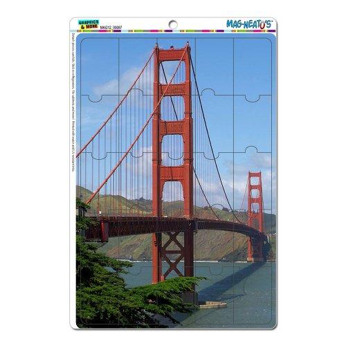 Golden Gate Bridge de San Francisco CA Mag-neato de fantaisie (TM) Cadeau Locker réfrigérateur en vinyle puzzle Lot de 8aimants