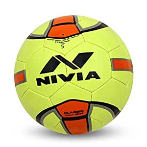 Nivia - - Step Out & Play 281 Rubber Classic Football, Size 5 (Multicolour)