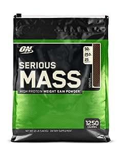 Optimum Nutrition Serious Mass Weight Gain Powder, 5.45 kg - Chocolate