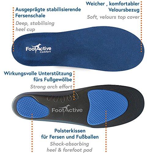 FootActive Comfort - Original Marken Einlegesohlen - Herrlicher Laufkomfort Für Füße, Beine und Rücken, Speziell Bei Fersensporn (44-46 L) - 2