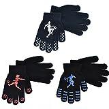 3 Paar Handschuhe Winter Gripper Jungen-Fußball-Entwurf