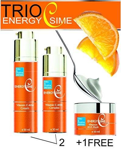 Vitamin C Creme 50ml + Serum 30ml + Maske 50ml ● Exzellent für normale und trockene Haut. Hilft entkräfteter Haut wieder zu einem gesunden und strahlenden Hautbild