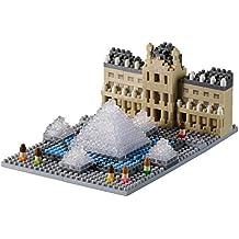 Brixies 410166 - Museo del Louvre, rompecabezas 3D, Francia Edición, 474 piezas, el nivel de dificultad 3, pesado, multicolor