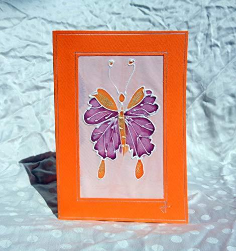 Verkauf!!!17% reduziert,Schmetterling Karte/handgemalte Seide Karte/Geschenkpapier/schöne Muttertagskarte/Geburtstag/Hochzeit/hübsche Mütter Tag Karte/Dankeschön-Karten (Tag Verkauf Mütter)