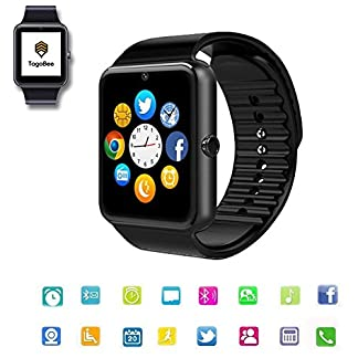TagoBee TB09 IP67 Pulsera de Actividad Fitness Tracker smartwatch Monitorización de la presión Arterial Notificaciones Recordar Compatible con iPhone y Android(Black)