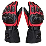 #5: Generic Biker Outdoor Sports Full Finger Riding Motorcycle Armored Gloves Red XXL