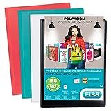Elba Polyvision Protège-documents personnalisable 120 vues en polypropylène opaque A4 Couleur aléatoire