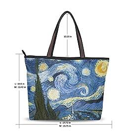 ALAZA Spalla Borsa Notte Stellata di Van Gogh Pittura a Olio Borsa Grande