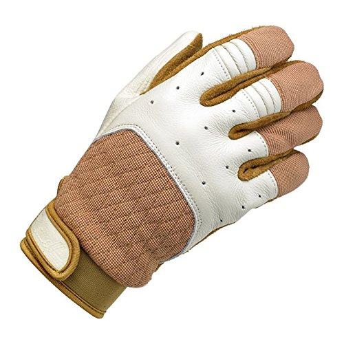 Handschuhe Leder Bantam weiß/beige Biltwell Herren Biker Biker Custom 2XL Bianco/Beige