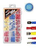 Vetrineinrete® Capicorda 120 pezzi assortiti per isolati per cavi elettrici maschio e femmina elettronica officina morsettiere C56