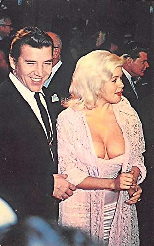 Jayne Mansfield and Husband Mickey Horgitay Movie Star Actor Actress Film Star Postcard, Old Vintage Antique Post Card Unused