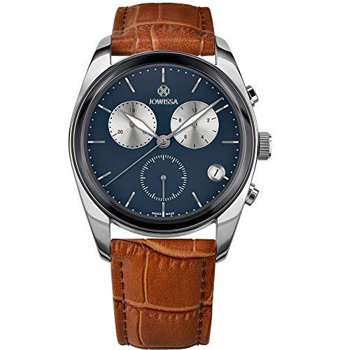 Jowissa Lux Swiss J7.093.L - Reloj de Pulsera para Hombre, Color Azul, marrón y Plateado