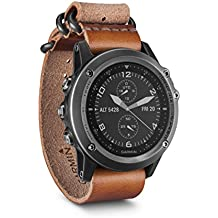Garmin Fenix 3 Saphir - Reloj multideporte, correa de cuero, color gris