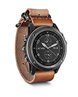 Garmin 010-01338-81 Fenix 3 Sapphire - Gray with Leather Strap - EMEA Handheld GPS