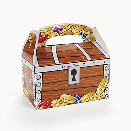Preisvergleich Produktbild Piraten Schatzkiste Schatztruhe Schatzbox 12 Stück aus Pappe für Mitgebsel und Give-Aways Palandi®