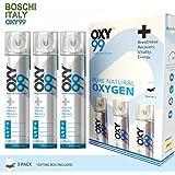 Portable Oxygen Cylinder - 3 Pack (18 Liter, 450 Inhalation/Breaths)