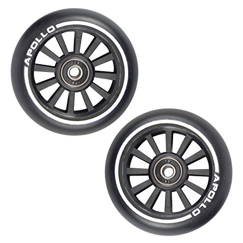Apollo - Stunt Scooter Rollen - 100mm Pro Wheels mit Nylon Core - ABEC 9 Kugellager, Rollerrad Ersatz-Räder passend für Stunt-, Freestyle- und Kick-Scooter