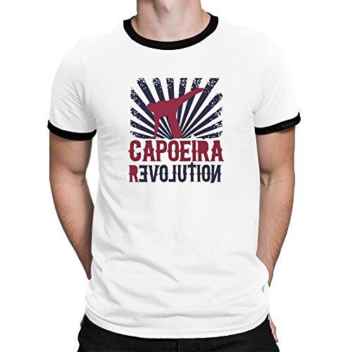 Revolution Ringer T-shirt (Teeburon Capoeira REVOLUTION Ringer T-Shirt)