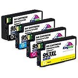 Kingway 953XL Lot de 4 Cartouches d'encre pour imprimante HP 953 953XL OfficeJet Pro...