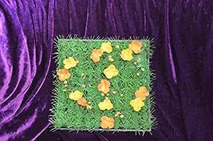 prix a l unite pelouse artificielle decoration table carr gazon synth tique avec fleurs 24 x. Black Bedroom Furniture Sets. Home Design Ideas