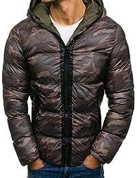 BOLF - Veste d'hiver - Fermeture éclair – Matelassée - Homme