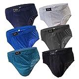 6-12 Slips Herren Unterhosen Männer Slip Unterwäsche Herrenunterhose aus Baumwolle ALS Farbmix (XXL, 6.Stück 580)