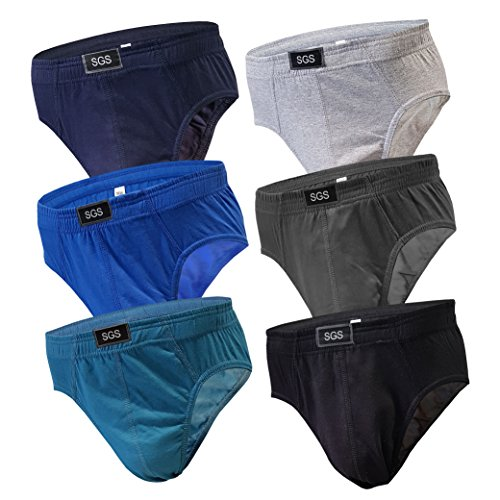 6-12 Slips Herren Unterhosen Männer Slip Unterwäsche Unterhose aus Baumwolle Männerslips Sportslips Pants (S, 6.Stück 580), Herstellergröße 5