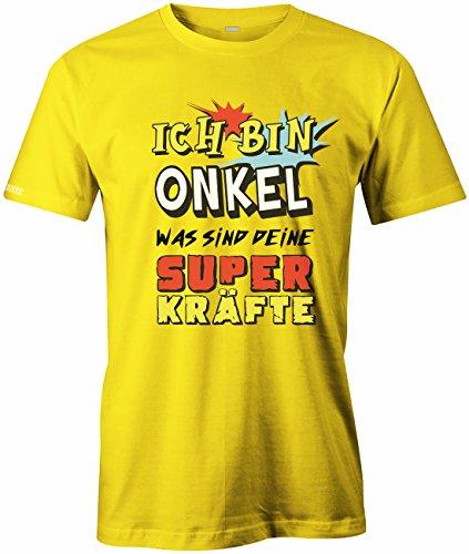 Ich bin Onkel was sind deine Superkräfte - HERREN T-SHIRT Gelb