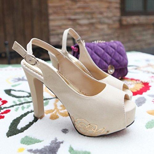 Da donna-Tacchi-Matrimonio Casual Serata e festa-Plateau Comoda Club Shoes-A stiletto Plateau-Felpato-Nero Blu Rosso Beige beige