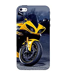 PrintVisa Stunning Bike 3D Hard Polycarbonate Designer Back Case Cover for Apple iPhone 5S