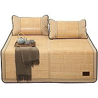 Preisvergleich für Coole Matratze Bambusmatte Sommer Schlafmatte Faltbare Matte Doppelseitige Dreiteilige (mit Kissenbezüge) Einzelnes Schlafsaal Rattan Matte (für 4,5ft, 5ft, 6ft Bed) Coole Bambusmatte ( größe : 1.5(5FT)BED )
