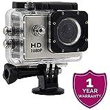 "Amplec 1080P Full HD 12MP Waterproof 30m 2"" LCD 170 Degree Wide-Angle Sports Camera"