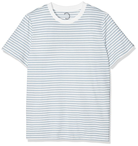 SELECTED FEMME Damen T-Shirt SFMY Perfect SS Tee-Box Cut-Stri. NOOS Weiß (Bright White Stripes:Sky Way)