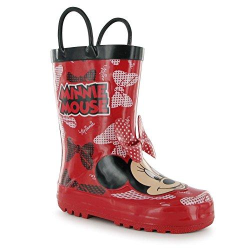 Disney Minnie Mouse Stivali Bambini Rosso Wellies Stivali gomma stivali, Red, (UK C12) (EU31)