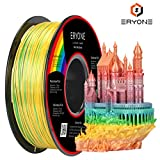 PLA Filament 1.75mm Mini Rainbow Multicolor, ERYONE Multicolor Filament PLA 1.75mm, 3D Printing Filament PLA for 3D Printer and 3D Pen, 1kg 1 Spool