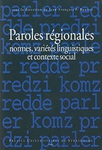 """Afficher """"Paroles régionales"""""""