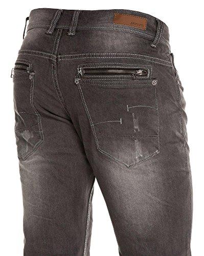 BLZ jeans - Jean grisé délavé usé Gris