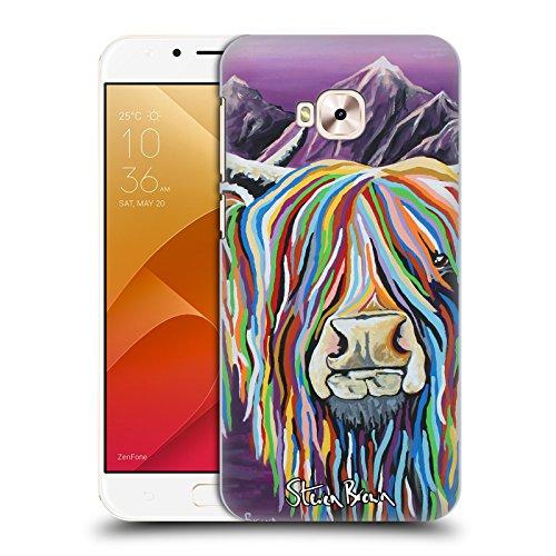 Offizielle Steven Brown Wullie & Maggie Hochland Kuh Sammlung 2 Ruckseite Hülle für Zenfone 4 Selfie Pro ZD552KL (Taschen Brown Maggie)