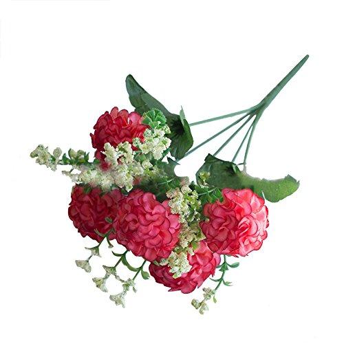 Homeofying 1 Bouquet Künstliche Gefälschte Chrysantheme Blume Pflanze Home Office Party Decor Pink (Office-pflanze Blume)