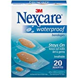 Nexcare Waterproof Bandages 588-20PB, Assorted 20 ct