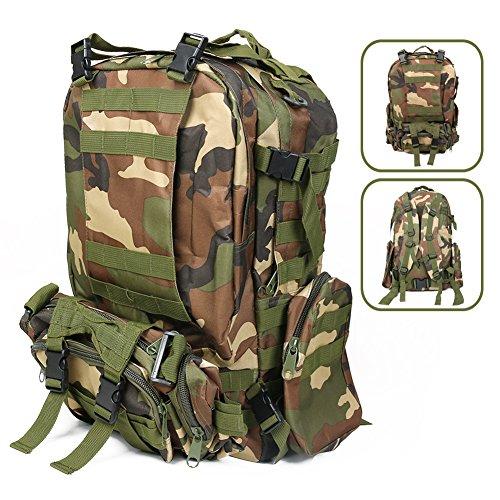 55L Camouflage zaino tattico viaggio Multipurpose panno di Oxford Zaini adatto per Alpinismo escursioni outdoor sport flydr Agon