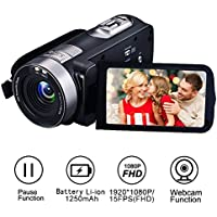 Videokamera Camcorder Full HD 1080p 24,0 MP Kamera Recorder Kamera 16X digitaler Zoom 3 Zoll LCD HDMI-Ausgang mit der Fernbedienung