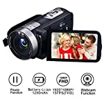Camcorder Video Camera Full HD 1080p 24.0 MP Video Camcorder and Digital Camera Recorder Webcam 16x Digital Zoom 3 Inch LCD HDMI Out and Remote