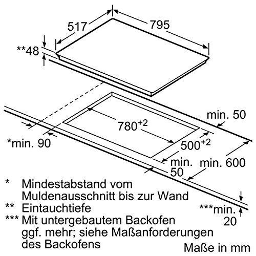 Neff TD 1383 N Kochfeld Elektro / CERAN®/Glaskeramik / 79.5 cm / 4 HighSpeed-Heizkörper / schwarz - 2