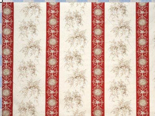 Tessuto da tappezzeria, rivestimento in tessuto, tessuto da tappezzeria, tessuto, tenda, tessuto - Eden, beige rosso - celeste bellissimo tessuto stampato con motivi classici e ornamenti - Celeste Angelo Ornamento