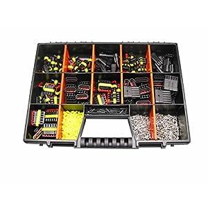 AMP Superseal 1-polig bis 6-polig Sortiment Box Kasten Steckverbinder Zubehör Elektrik KFZ