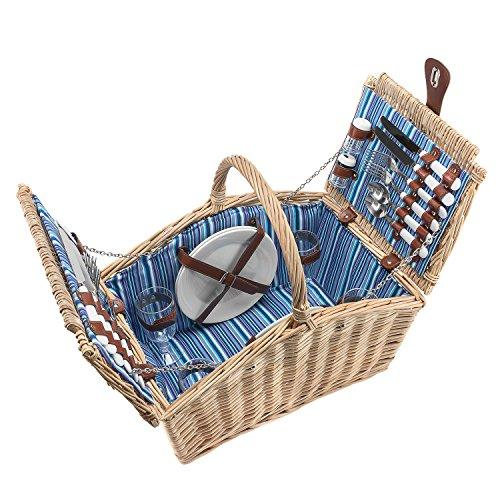 anndora Weiden Picknickkorb 4 Personen – Farbwahl